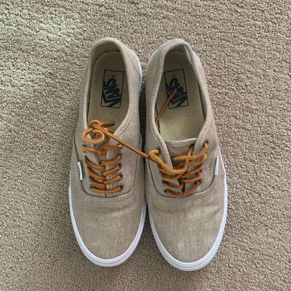 Vans Shoes | Tan Womens Slip On | Poshmark